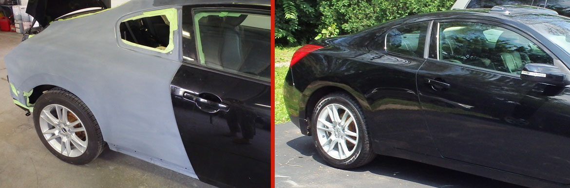 Before and after sedan